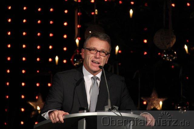 Bürgermeister Franz Stahl bei der Weihnachtsansprache 2012