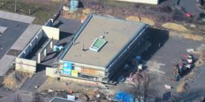 Luftaufnahme Polizeigebäude Tirschenreuth Neubau