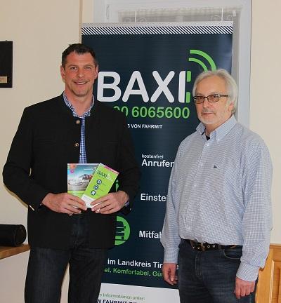 Huberth Rostner informiert sich über BAXI bei Peter Zimmert